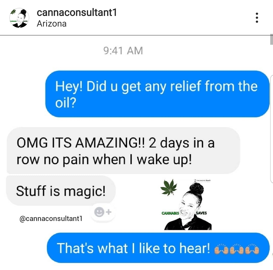RSO for Pain Relief (Testimonial)