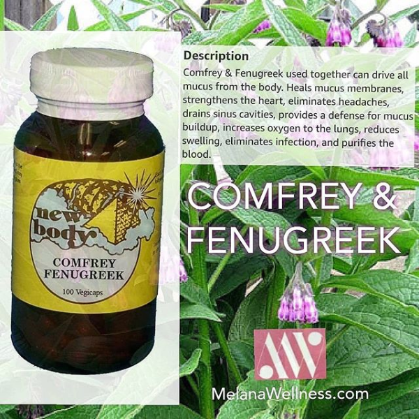 Comfrey and Fenugreek for Mucus Removal