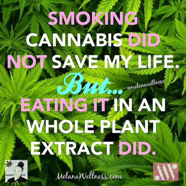 Smoking Cannabis Did Not Save My Life, But Eating it Did!