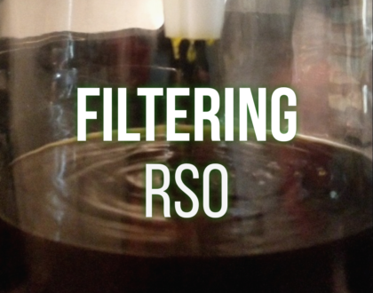 Filtering Cannabis Oil (FECO/ RSO) With A Coffee Filter! EASY!