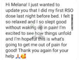 Testimonial Tuesday Rheumatoid Arthritis Pain Relieved After One Dose!
